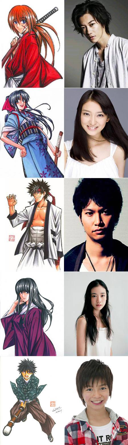 Karakter Samurai X : Anime vs Dunia nyata.