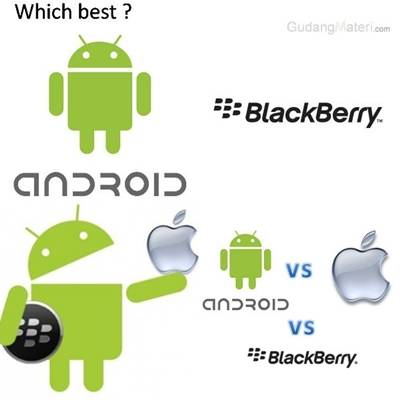 Which the best? android vs apple vs bb me : Android you??? makasih udah klik wow :)