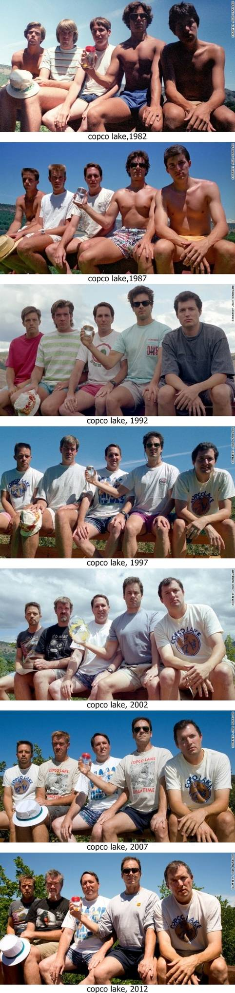 Membuat Foto yang Sama selama 30 tahun Selama tiga puluh tahun orang-orang ini membuat foto yang sama setiap lima tahun sekali. Hasilnya luar biasa.