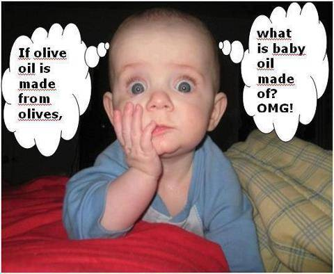 Baby oil is made of ....?