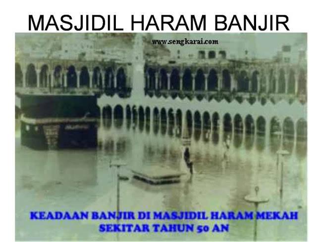 inilah keadaan banjir tahun 50 an di masjidil haram mekah