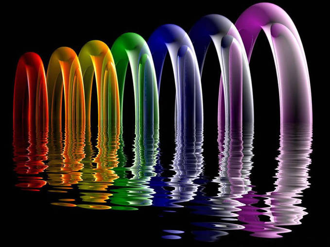 rainbow water shot ,,, warna warni seru ya + cantik :) wow donk