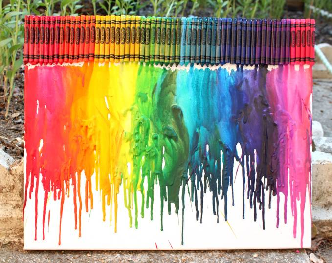 melted crayon rainbow ~_~