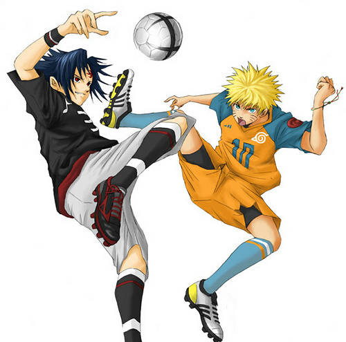 gokilllll uchiha sasuke vs uzumaki naruto bermain bola jgn lupa klik wow