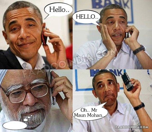 """""""Please keep your cell phones on Manmohan Singh mode"""""""