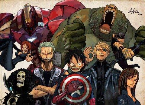 One piece the avengers