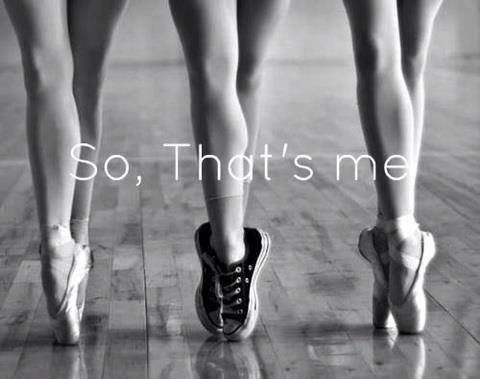 if i could do ballet, id rather choose my converse shoes rather than pointe shoes. Be different.