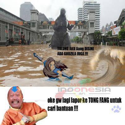 Pertolongan dari Avatar saat jakarta Banjir ..hahaaaa