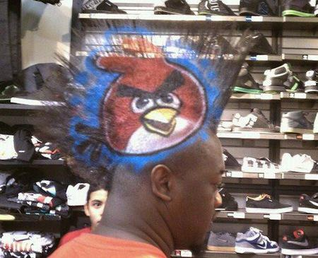 model rambut angry bird,, :D