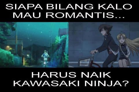 Romantis gk harus Kawasaki ninja kan ?!