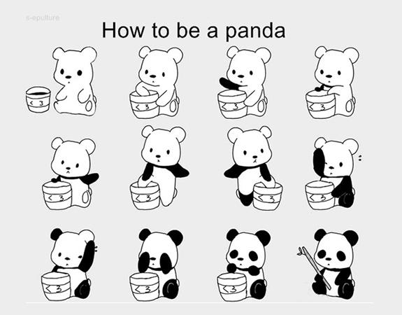 How to be a panda :3