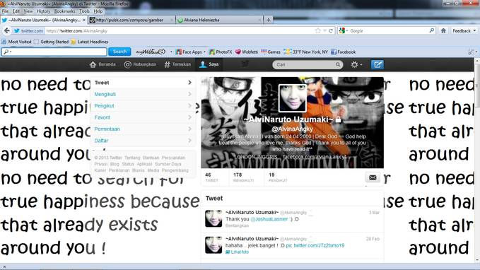 follow me on twitter :):) @alvina_angky :) iam fans of NARUTO :)