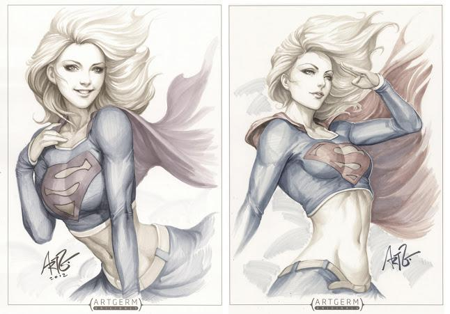 Supergirl. The best drawing I have seen in a while. (c) Artgerm Stanley Lau