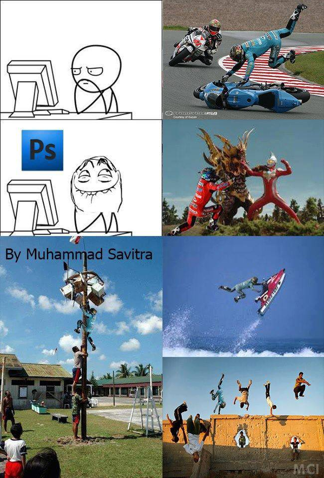 Photoshop Detect :) 'Wow nya dong` *Meme Comic Indonesia