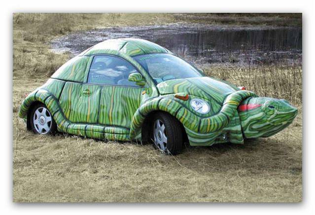 wow ..... turtle car