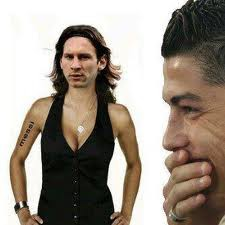 Hahaahah Messi Di ketawain CR7 ... Wkwkwkwk