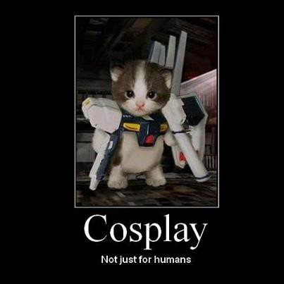 Cosplay Not Just For Humans !! :D wkwkwk kasih Wownya dong