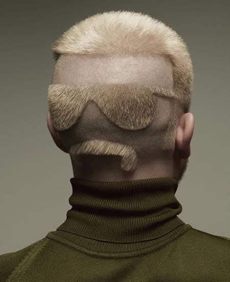 bentuk rambut yg unik :)