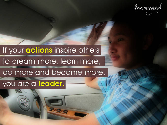 Thats the way we live as a leader. Wow apa wow? hehe