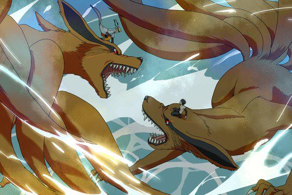share pic: naruto and kyubi vs menma and kyubi jangan lupa klik wow !!