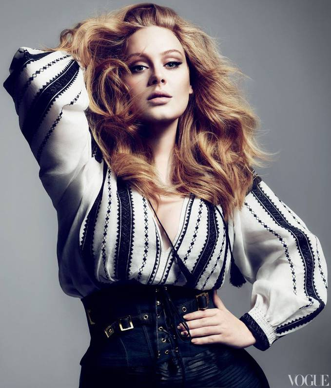 . Adele At Vogue . March 2011.. Gimana Sexi Gak !! :) Wow nya Dong !! Buat Adele