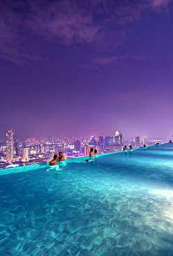 Infinity Pool Di Lantai 57 Hotel Marina Bay Sands Singapore