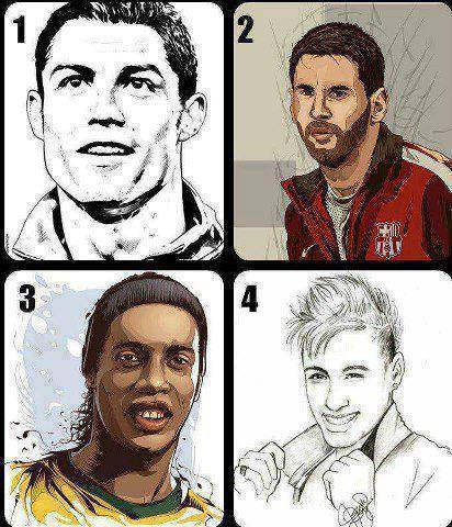 Who Is The Best Player In The World ? 1) CR7 2) Messi 3) Ronaldinho 4) Neymar