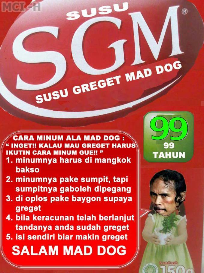 Susu Greget Mad Dog hheee,,,