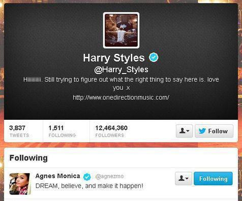Agnes Monica Difollow Harry Styles n duet sm justin bieber..WOW