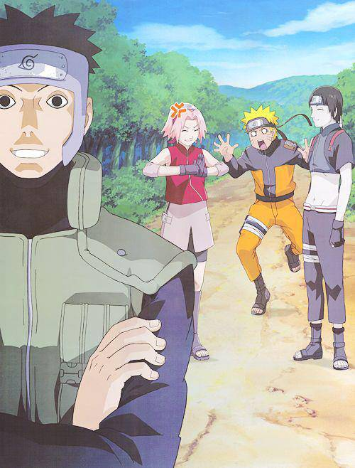 Yamatos creepy face never fails to freak Naruto out!