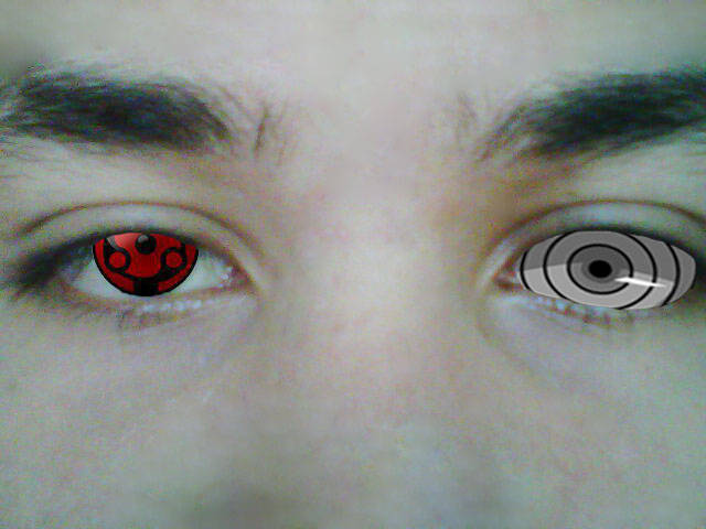 the real eksternal mangekyou sharingan & rinnegan