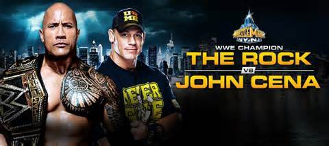 The Rock VS Jonh Cena Wrestlemania29.kalian pilih mana.kalu aku sih Jonh Cena.wow