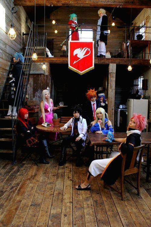 fairy tail guild cosplay,wow nya dong