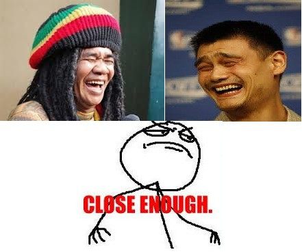 OMG This is Close enough Alm. Mbah Surip & Yao ming