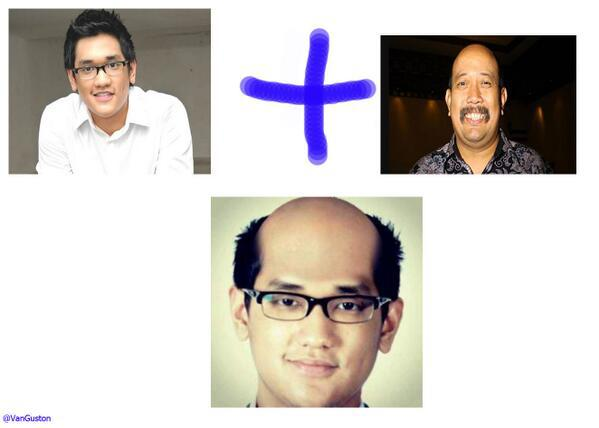 Combine face. Afgan + indro = ?