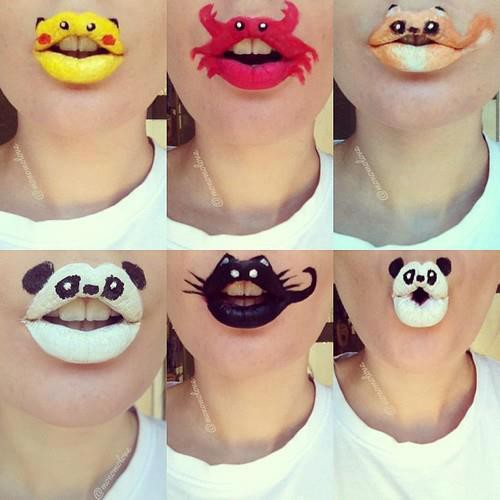 lips art was trend in NYC wow what about indonesia?