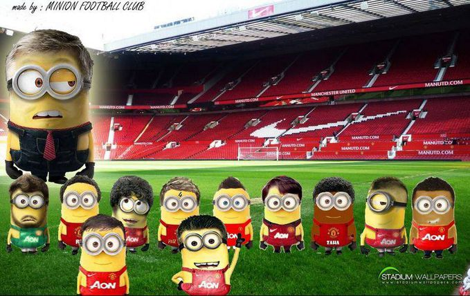 This Is.. Starting Eleven Of Manchester United IN Minion WOWWnyaa.. Sorrryyy.. Lama nggak ngepost.,.,