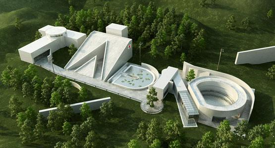 Sangat Unik Ya Desain Gedung Yang Unik dengan Concept 3D hasil karya Christian LaBrooy seorang desainer dan ilustrator asal amerika.... WOW ya sob.....