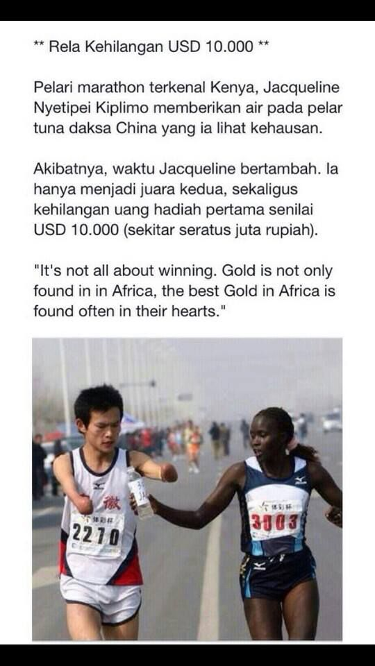 Its not all about WINNING ! INI BARU JUARA SEJATI...WOW...
