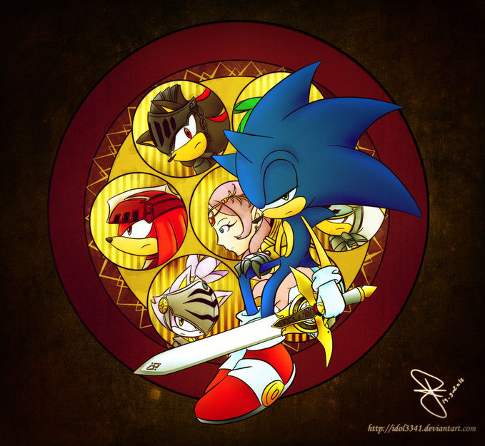 sonic and the black knight versi ANIME :)
