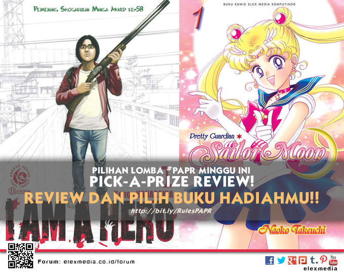 #LombaReview #PAPR minggu ini I AM A HERO http://ow.ly/rg8Fu SAILOR MOON Deluxe http://ow.ly/r4KFV Cara: Register http://bit.ly/LXORegs / http://ow.ly/nPFiA Simak http://bit.ly/RulesPAPR