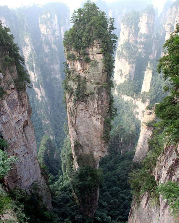 "Lokasi: Tianzi Mountains, â?ª#""Chinaâ?¬"