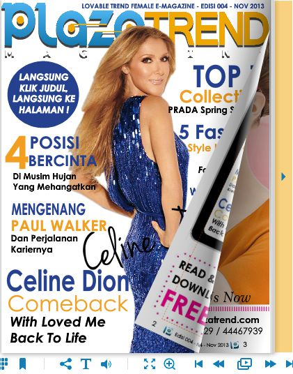 READ FREE @PLAZATREND Magazine Digital! GET FASHION AND LIFESTYLE on the latest and greatest in fashion, from end to end and trend to trend. http://www.plazatrend.com/baca/6784.html#1