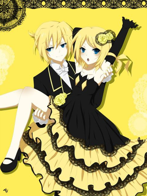 kagamine rin and len in daughter of evil wownya sob ;)