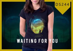 Kaos Wanita Waiting For You