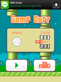 [Flappy Bird] ini score ku berapa score mu?? No edit no cheat....