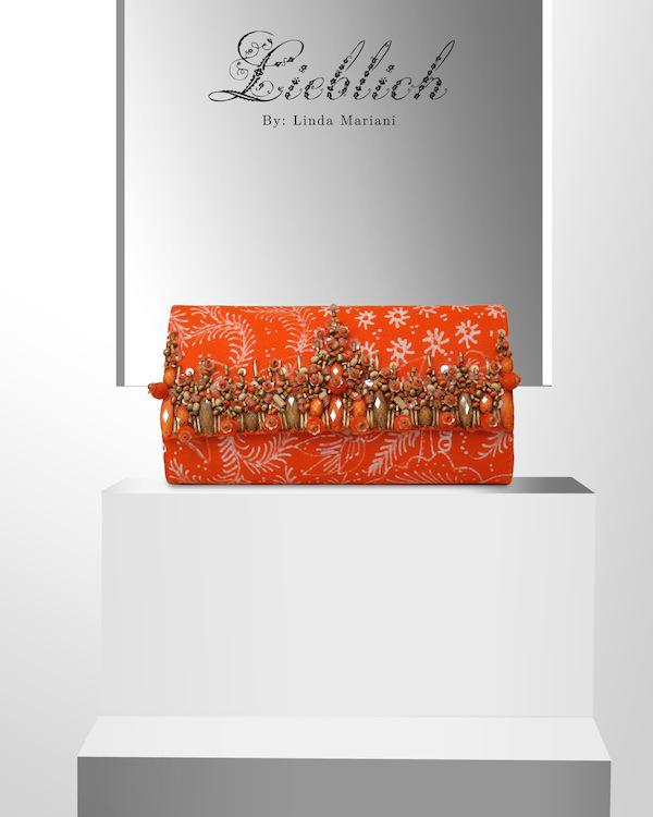 LIEBLICH LC08 ORANGE CODE : LIEBLICH_LC08_ORANGE - ORANGE BATIK - HANDMADE BEADING (wood, sequins, seed) - SIZE : 19 X 9 (CM) see more: http://lieblichbags.com/products-page/clutch-bags/lieblich-lc08-orange #fashion #bags #tas #handmade