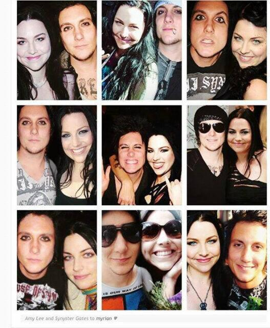 A7Xs Synyster Gates & Evanescences Amy Lee