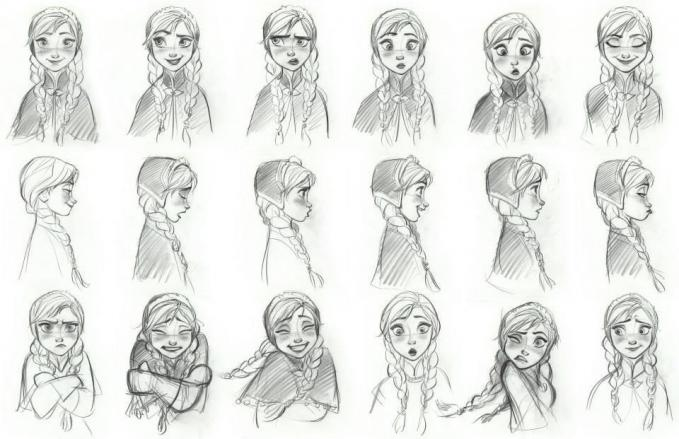 Many faces of Anne - Frozen. Shes cute, right ?
