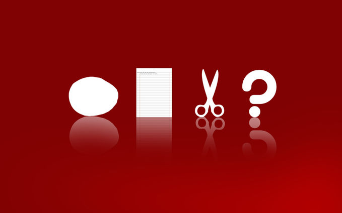 ( red .. red ) Rock , Scissors , Papper ( red .. red ) - Short Story
